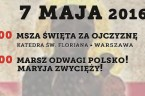 """Niech będzie pochwalony Jezus Chrystus! 07.05 Warszawa Zapraszamy na Marsz """"Odwagi Polsko! Maryja Zwycięży!"""" Stop Targowicy! Plakat:https://drive.google.com/file/d/0B7i15HJp0hgRMFMzVVhsaXlfUjQ/view?usp=sharing Tego dnia będzie Pierwsza Sobota miesiąca a także rozpoczniemy pierwszy dzień naszej nowenny […]"""
