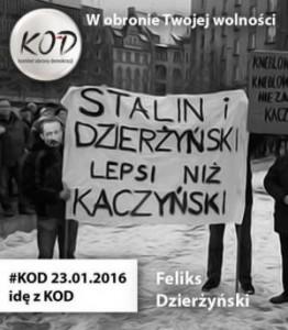 Zdrajcy z KOD ze Stalinem i Dzierżyńskim