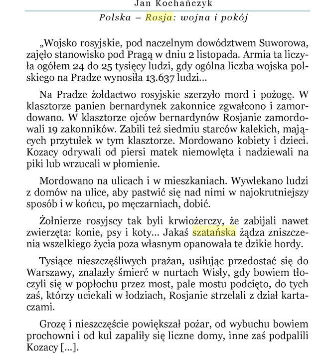 Rzeź Pragi przez Rosjan