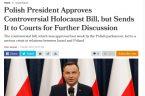 wraz z podpisaniem przez prezydenta Andrzeja Dudę nowelizacji ustawy o IPN i jego zapowiedzi skierowania jej do Trybunału Konstytucyjnego. Świadczy o tym reakcja władz Izraela na wystąpienie prezydenta Dudy {TUTAJ […]