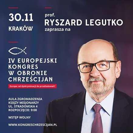 IV Europejski Kongres w Obronie Chrześcijan Kraków, 30 listopada 2018 r.