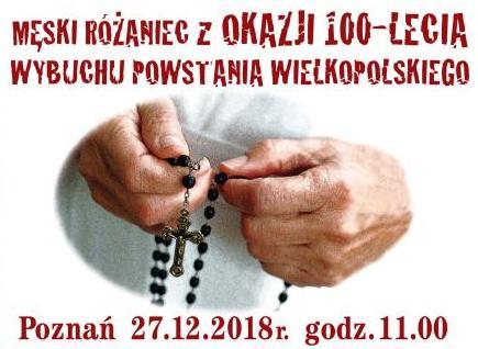 My, reprezentanci wspólnot mężczyzn z archidiecezji poznańskiej, poprzez wspólną modlitwę różańcową, pragniemy wyrazić wdzięczność powstańcom wielkopolskim, którzy 27 grudnia 1918r. podjęli największy zryw niepodległościowy na terenie zaborów, zwieńczony zwycięstwem. Pamiętamy, […]