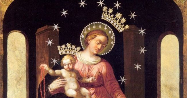 W Imię Ojca i Syna i Ducha Świętego. Amen. Czcigodna Dziewico Zwycięska, Pani nieba i ziemi, na imię Której cieszą się niebiosa i drży piekło, o chwalebna Królowo Różańca Świętego […]