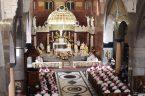 podczas Mszy św. w Bazylice Najświętszego Serca Pana Jezusa [z udziałem Chóru Mariańskiego] Kraków, 11 czerwca 2021 r.