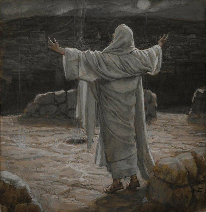 Brooklyn_Museum_-_Christ_Retreats_to_the_Mountain_at_Night_-_James_Tissot