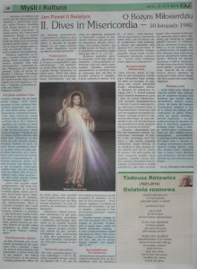 II. Dives in Misericordia Gazeta Obywatelska Nr 61, 2-15.05.2014