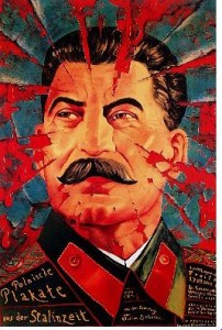 """Plakat Leszka Żebrowskiego z wystawy """"Polish Posters from the Stalin Times"""" (exibition poster), 2002."""