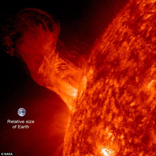 Słońce i Ziemia NASA