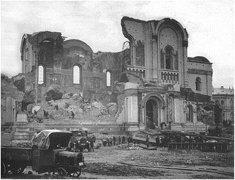 Sobor Aleksandra Newskiego w Warszawie ruiny