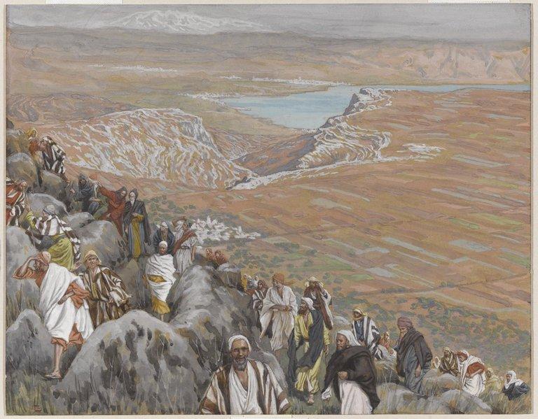 The People Seek Jesus to Make Him King (On cherche Jésus pour le faire roi)