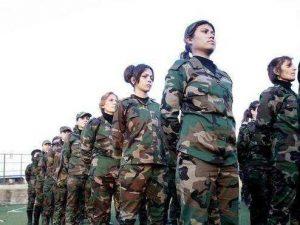 Żołnierze płci żeńskiej w armii syryjskiej