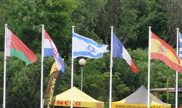 flagi uczestnikow izrael