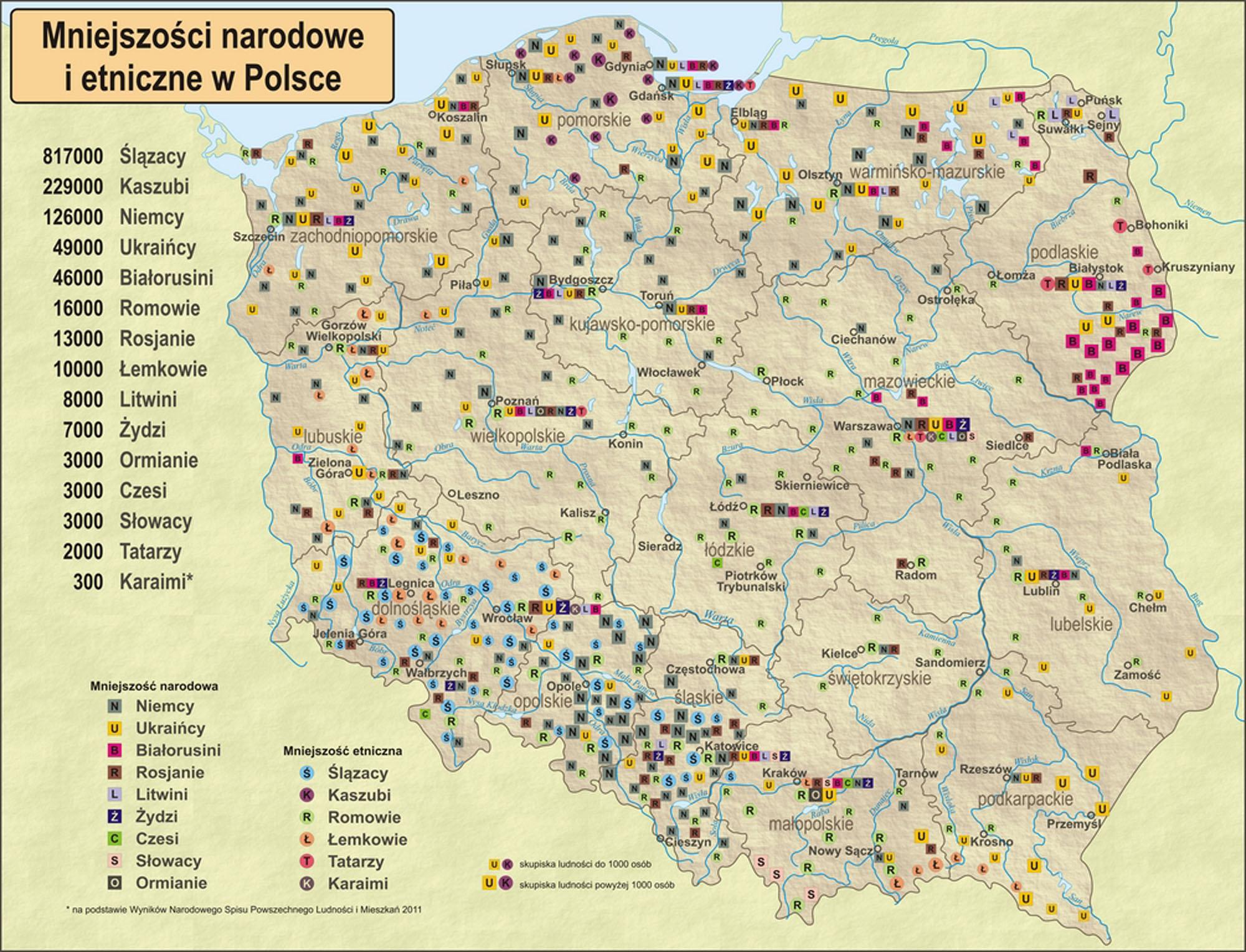 mapa mniejszości